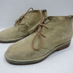 Hush Puppies Sand Suede Leather Chukka Boots 7 W
